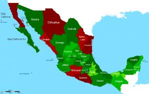 Messico aree di conflitto