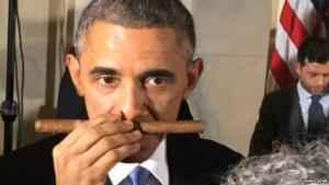 Barak e il sigaro cubano//