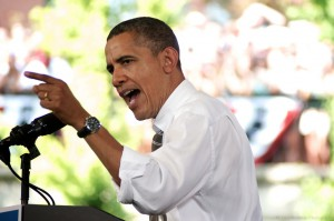 Barak Obama comizio