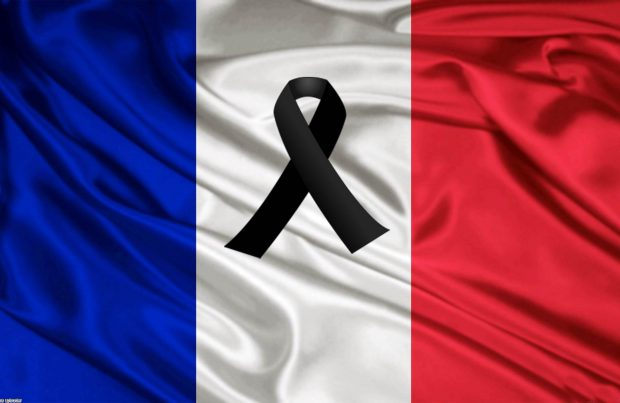 Bandiera francese a lutto