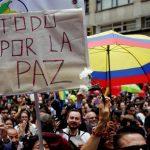Manifestazione per la pace in Colombia