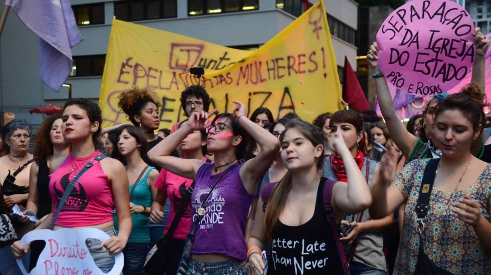 Manifestazione contro Bolsonaro