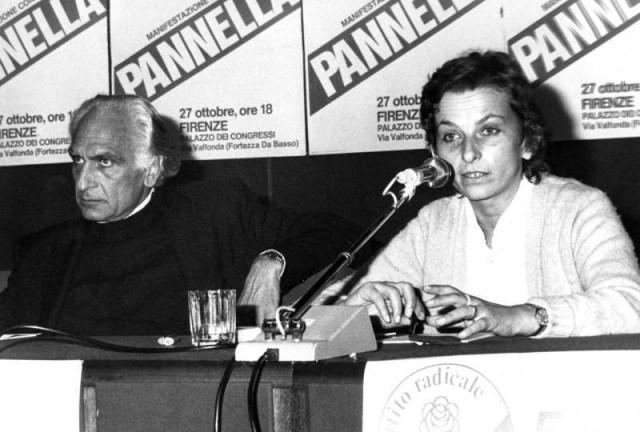 Marco Panella ed Emma Bonino