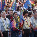 Evo Morales e i dirigenti del MAS
