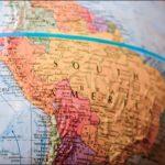Mappamondo con vista dell'America Latina
