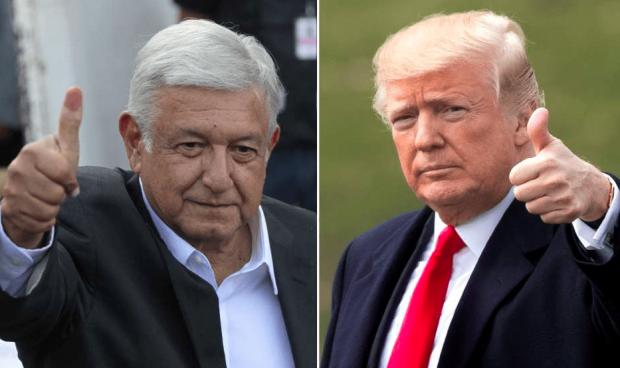 Obrador e Trump